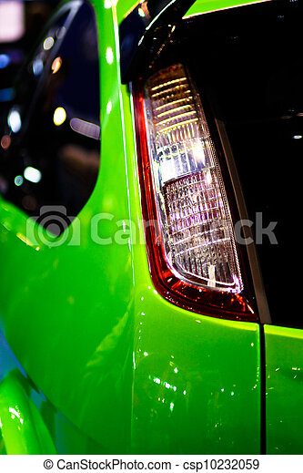 photo af current modern automobile in nice color - csp10232059