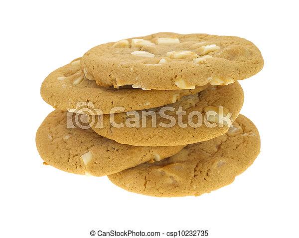 Five macadamia white chocolate cookies - csp10232735