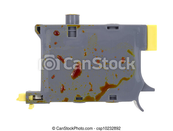 Leaking yellow inkjet cartridge - csp10232892