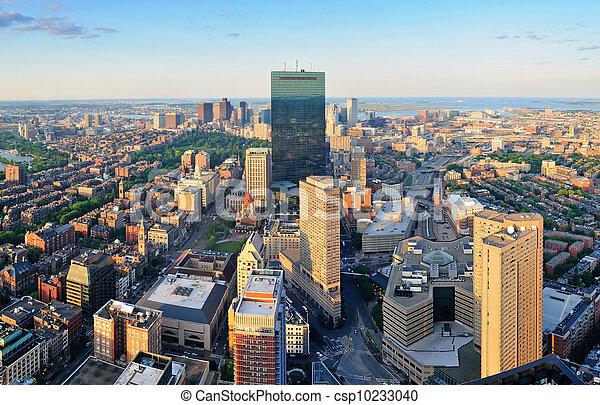 Boston aerial view - csp10233040