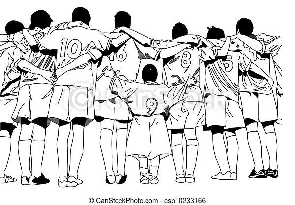 Stock illustration von fu ball kurz mannschaftskamerad - Dessin equipe de foot ...