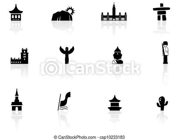 Landmarks and cultures icons - csp10233183