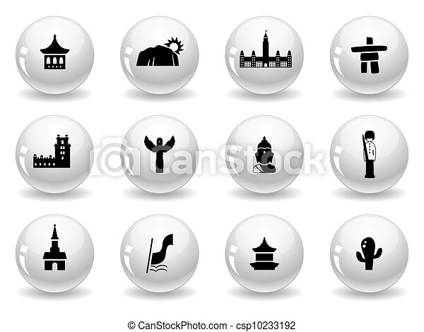 Landmarks and cultures icons - csp10233192