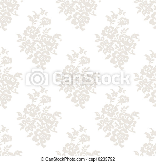 Seamless light floral wallpaper - csp10233792