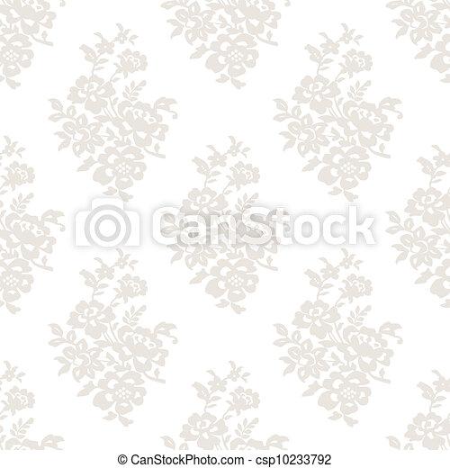 Seamless light floral wallpaper - csp10233792