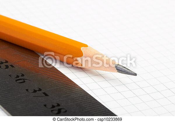 pencil and ruler - csp10233869