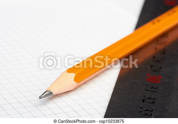 pencil and ruler - csp10233875