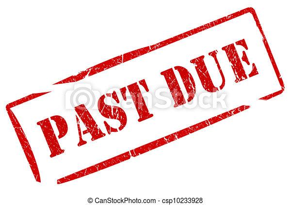 Past due stamp - csp10233928