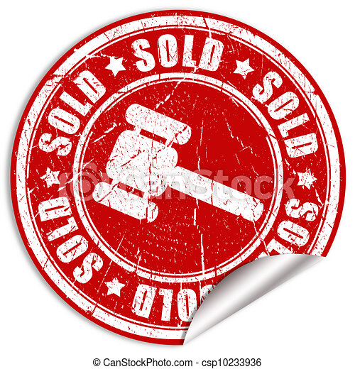 Sold sticker - csp10233936