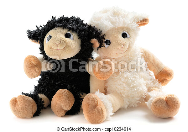 Two cute stuffed animals - csp10234614