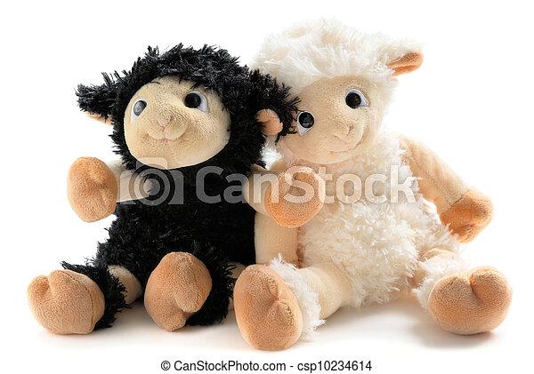 Two cute stuffed animals - csp10234614