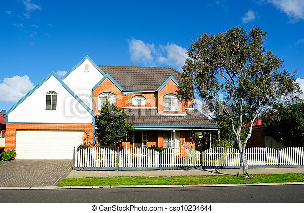 Family home in quiet residential street - csp10234644