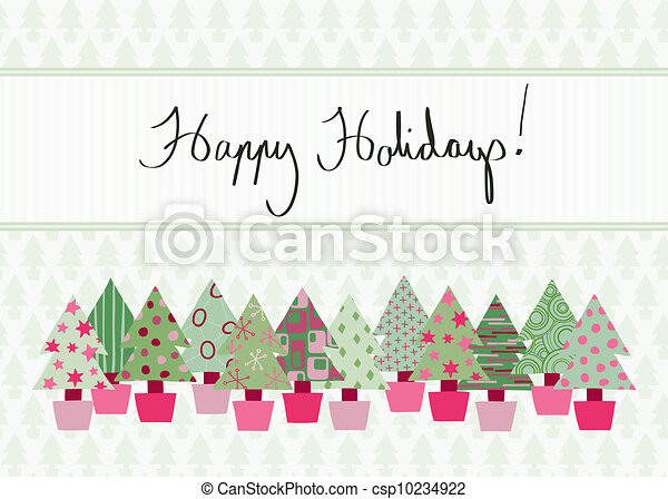 Happy Holidays Card - csp10234922