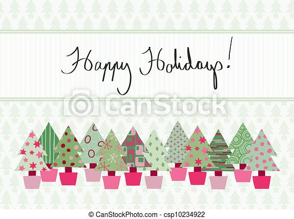 Happy Holidays Card - csp10234922