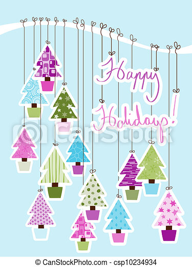 Happy Holidays Card - csp10234934