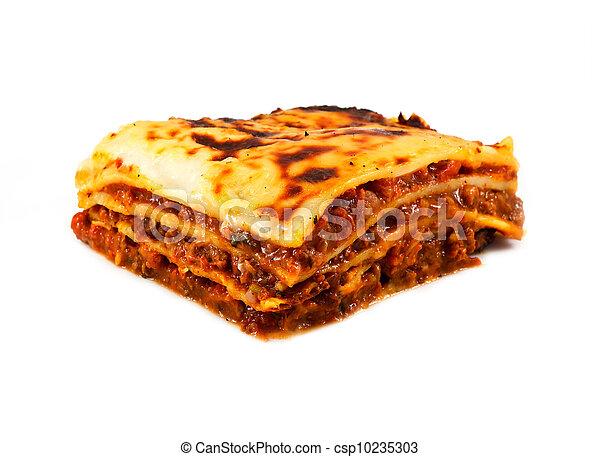 fait maison, traditionnel, lasagne, Frire - csp10235303
