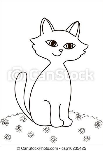 猫咪轮廓简笔画