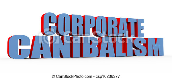 3d buzzword corporate cannibalism - csp10236377