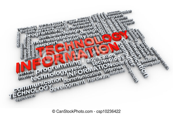 Word tags of information technology - csp10236422