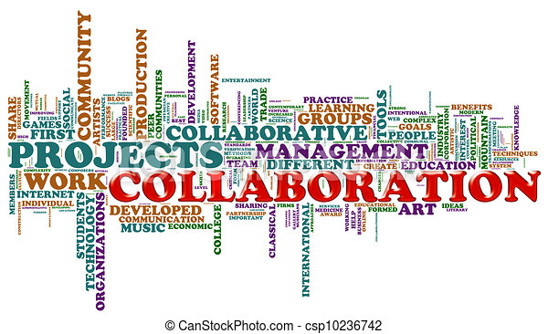 Collaboration word tags - csp10236742