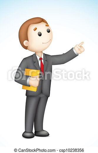 Business Man giving Presentation - csp10238356