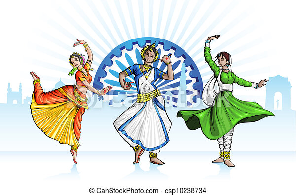 Indian Classical Dancer - csp10238734