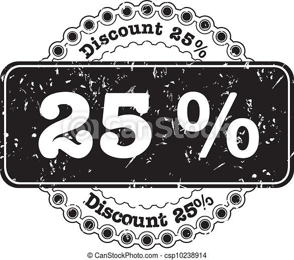 Stamp Discount Twenty Five Percent - csp10238914
