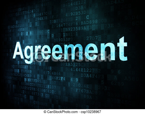 Business concept: pixelated words Agreement on digital screen - csp10238967
