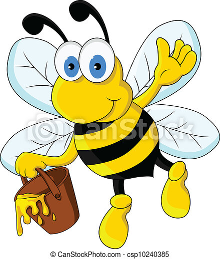 funny cartoon bee character - csp10240385