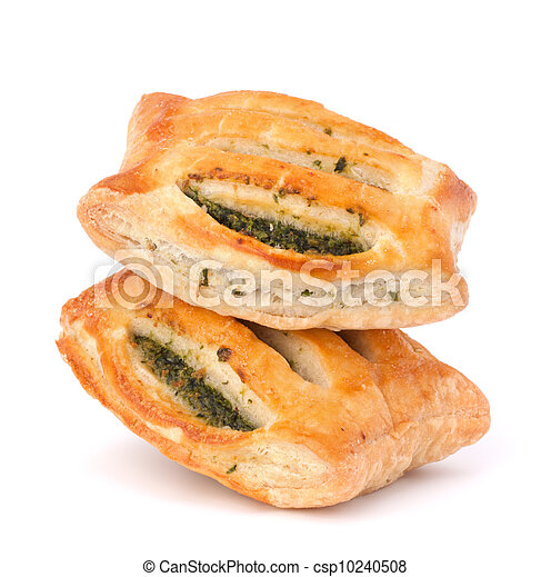 Puff pastry bun isolated on white background. - csp10240508