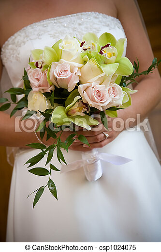 Wedding bouquet flower arrangement - csp1024075