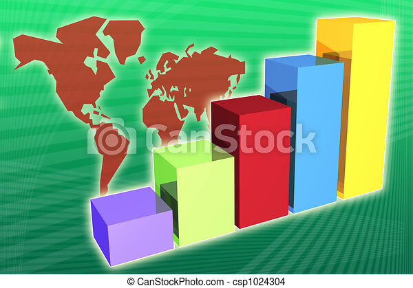 World Market Economy Growth and Increase - csp1024304