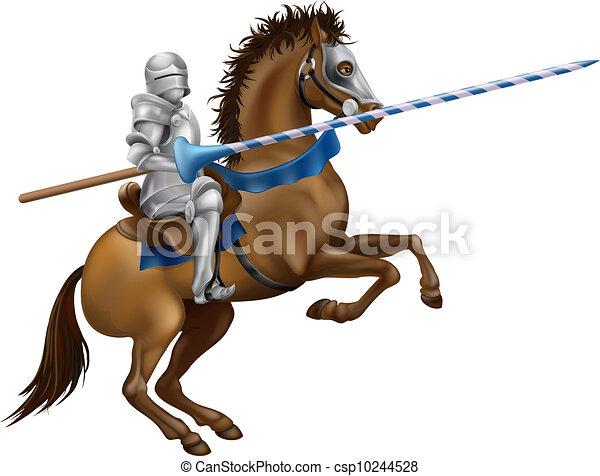 Illustration vecteur de jouter chevalier drawing de a jouter chevalier dans - Dessin cavaliere ...