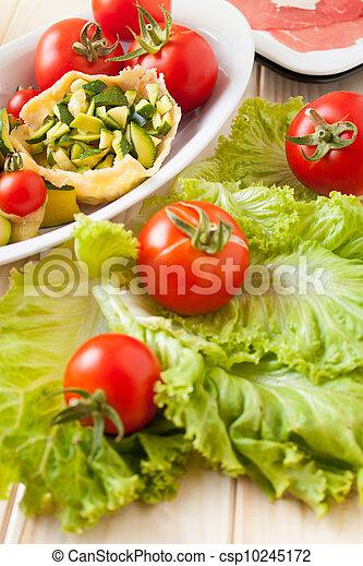 Basket of Parmesan with veggies - csp10245172