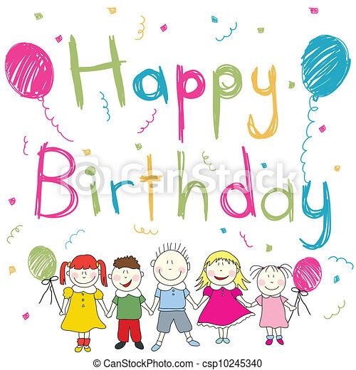 Happy Birthday card - csp10245340
