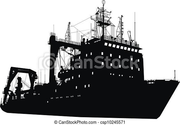 Ship silhouette - csp10245571