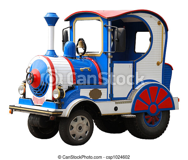 locomotiva, grande, brinquedo, Elétrico, isolado - csp1024602