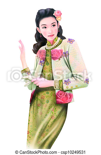 chinese lady  - csp10249531
