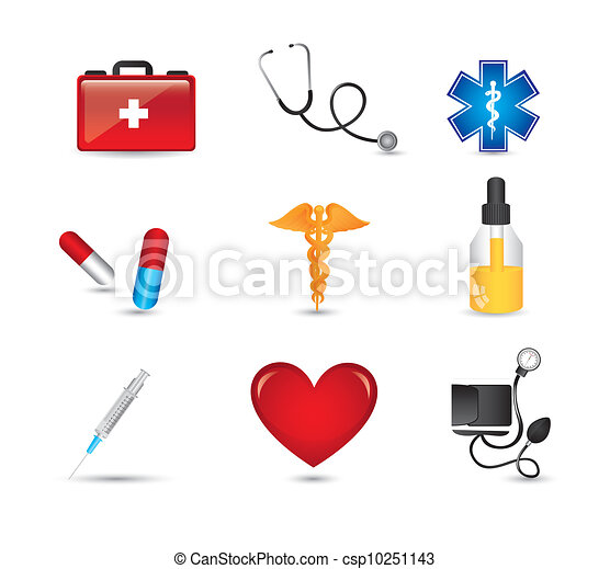 医学, 图标 - csp10251143