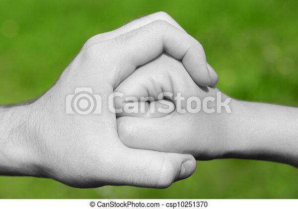 hand stops fist  - csp10251370