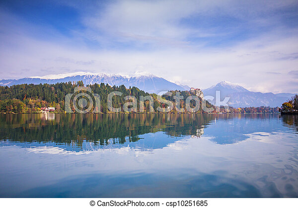 Bled with lake, Slovenia, Europe - csp10251685