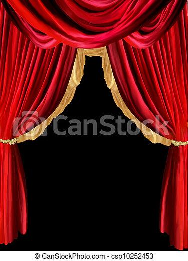 images de rideau fond dor d tail dans noir fond csp10252453 recherchez des. Black Bedroom Furniture Sets. Home Design Ideas