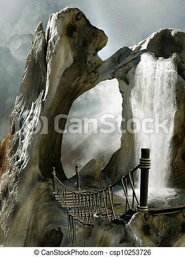 fantasie, landschaftsbild - csp10253726