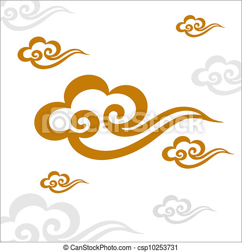 Chinese Cloud Drawings Chinese Cloud Csp10253731