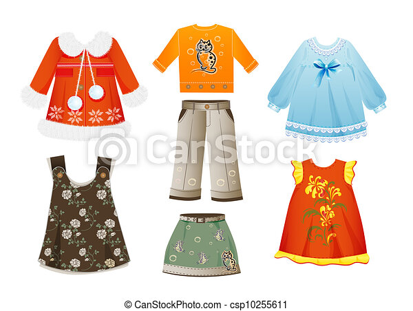 set of seasonal clothes for girls - csp10255611