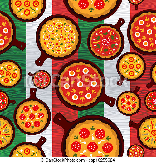 Italian pizza flavors pattern - csp10255624