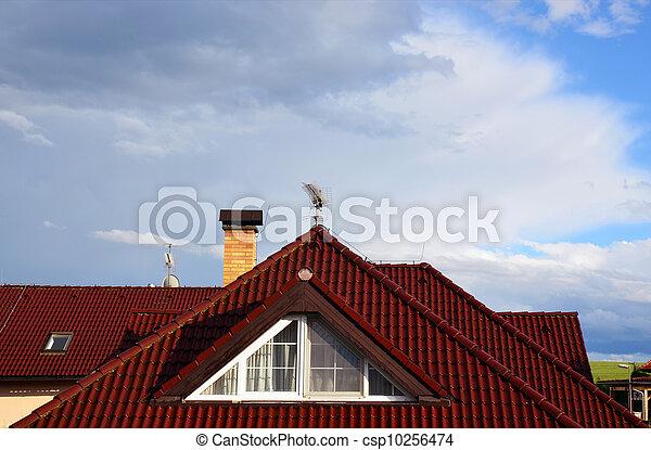 Image de maison toit chemin e pointu fen tre ciel for Fenetre toit ciel