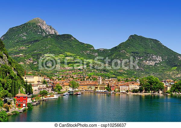 the city of Riva del Garda,Italy - csp10256637