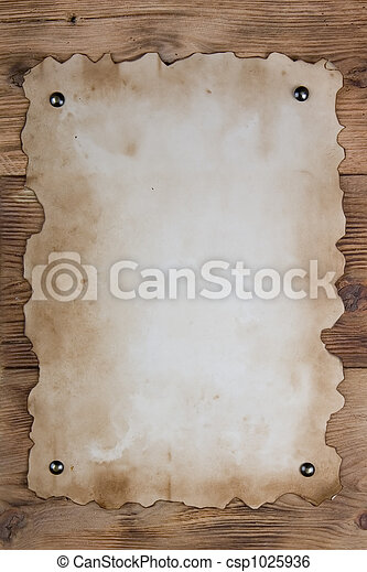 Tacked old paper - csp1025936