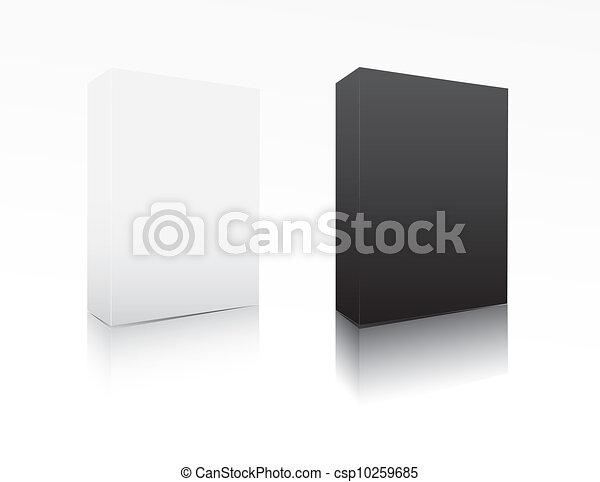 Black and white software box  - csp10259685